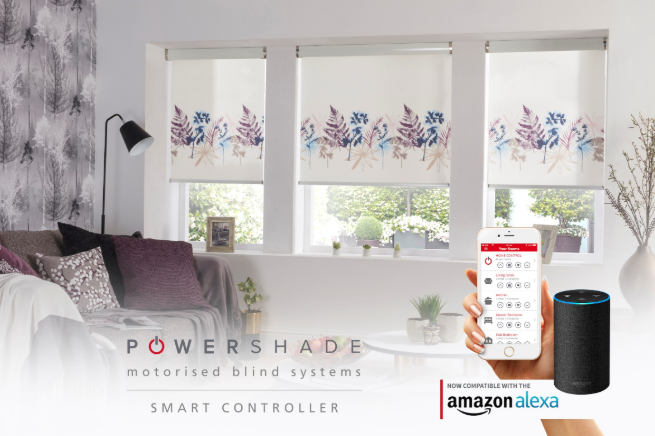 Eclipse Powershade Motorised Blind Compatible with Alexa and Google Home Smart Controller Roller Blind