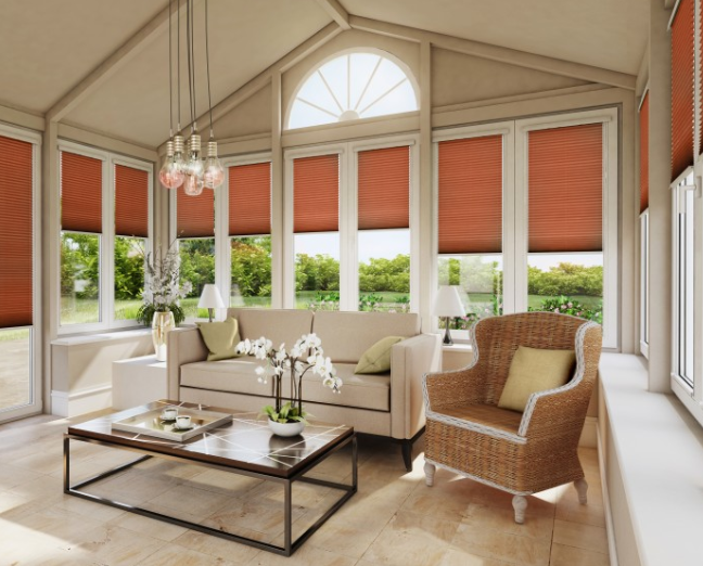 Infusion ASC Mandarin Solar Protective Perfect Fit Modern Conservatory Blind