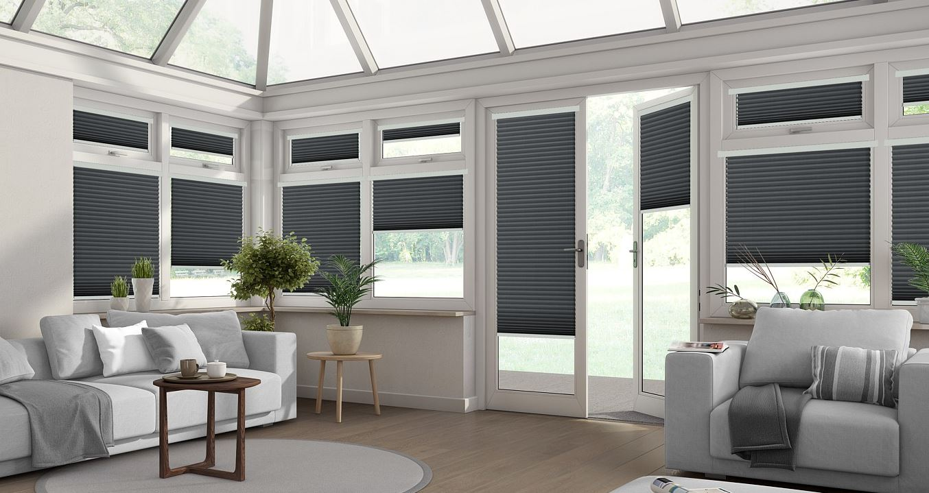 Intu pleated conservatory blinds by Direct Order blinds