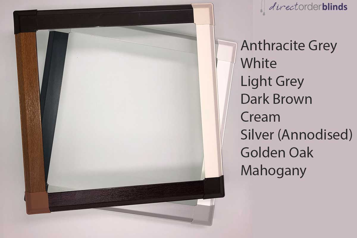 Perfect fit blind frame colours