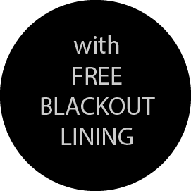 Free blackout lining on all roman blinds