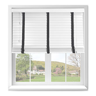 Fauxwood PVC Venetian Blinds with Tapes