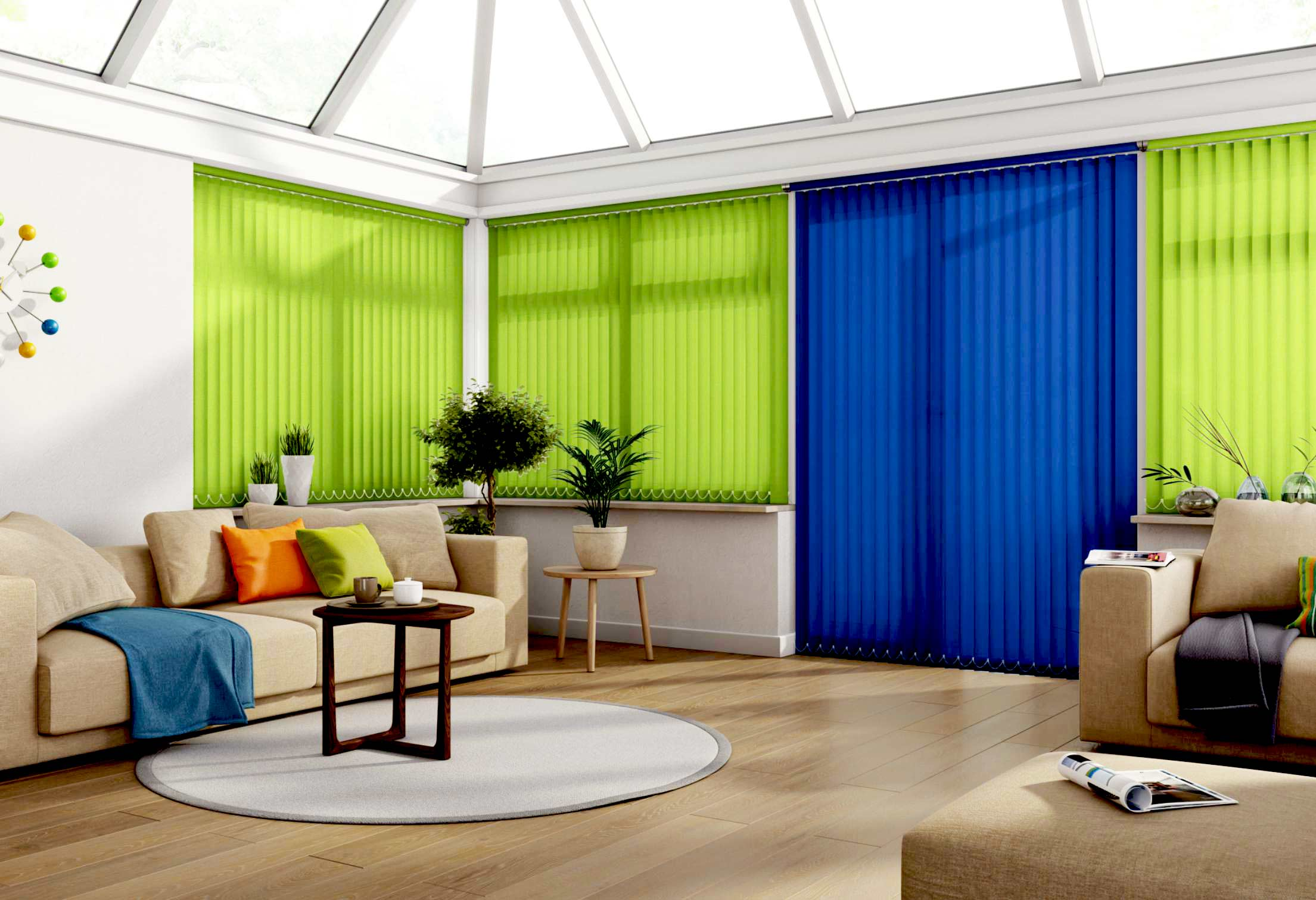Vertical Conservatory Blinds title=