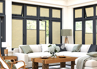 Perfect Fit Pleated blinds ideal for conservatory blinds