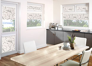 Perfect fit roller blinds including motorised perfect fit blinds, chain operated perfect fit blinds and spring operated clip in blinds