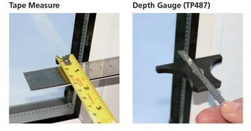 How to measure intu blinds beading depth